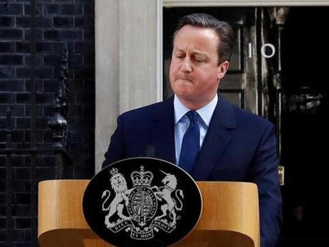 Britain's Prime Minister David Cameron speaks after Britain voted to leave the European Union, outside Number 10 Downing Street in London.