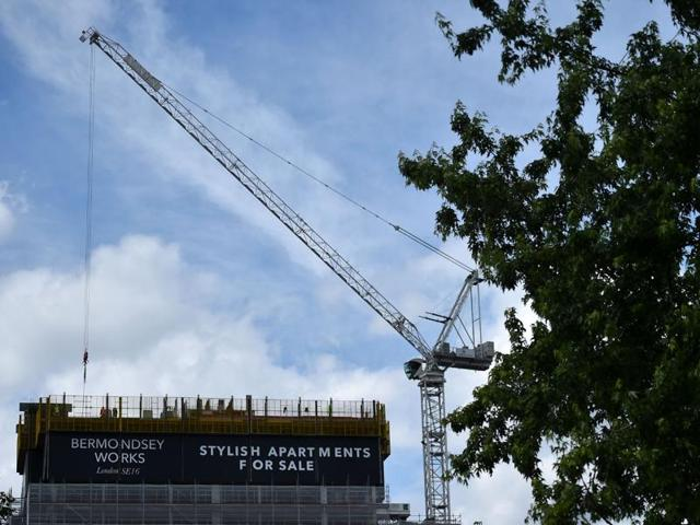 Residental construction is underway in south east London. Britain's historic decision to leave the 28-nation European Union has sent shockwaves through the political and economic fabric of the nation.