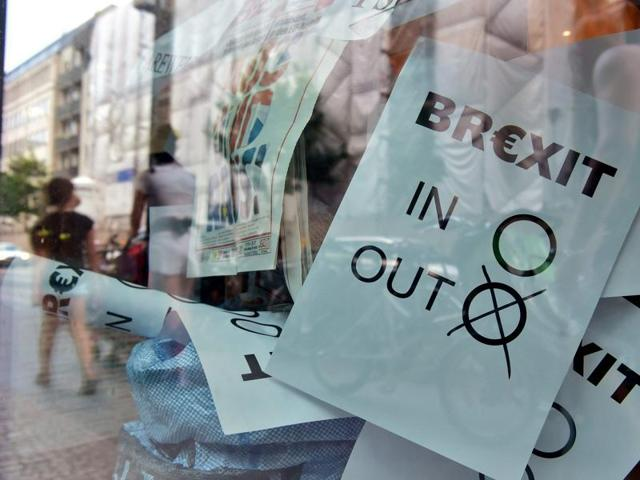 A poster featuring a Brexit vote ballot with