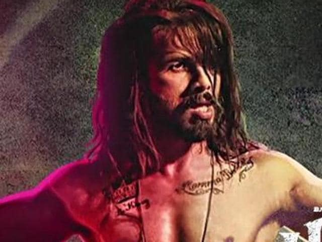 Shahid Kapoor in a poster of Udta Punjab.