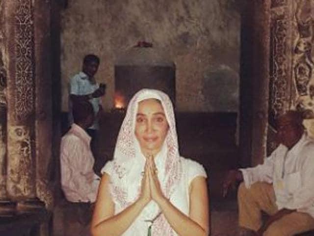 Sofia Hayat at Kailash Temple.