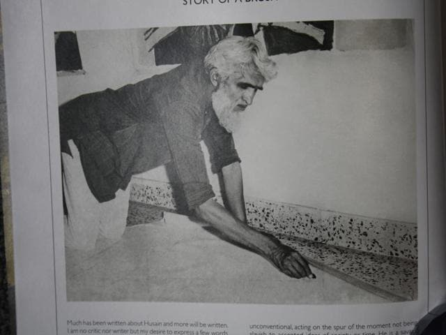 (L-R) MF Husain with Badrivisal Pittie. Pittie belonged to a  prominent business family of Hyderabad. His collection of Husains fetches top hammer price at most auctions as they were of the artist's best period, the '50s.