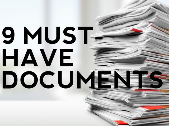 The applicants will have to produce the originals of the following documents with two sets of self-attested photocopies.