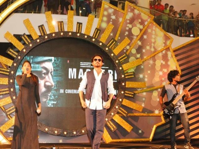 Actor Irrfan Khan at a promotional event for Madaari in Mumbai. (IANS Photo)