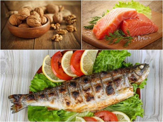 Walnuts, salmon and trouts are a great source of omega-3 fatty acids.