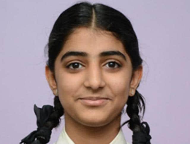 SSCtopper Sakshi Rajwani, who scored 99.8%.