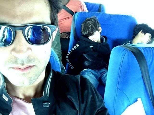 Hrithik is currently on a holiday with his sons. He was returning from Africa to back home via Istanbul.