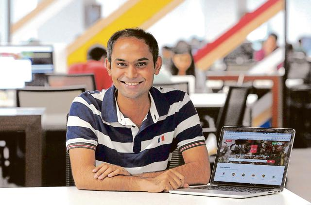 Gunjan Patidar, chief technology officer at Zomato, who is a textile technology graduate from Indian Institute of Technology-Delhi busts the myth that only computer science graduates can become app developers.(Parveen Kumar/Hindustan Times)