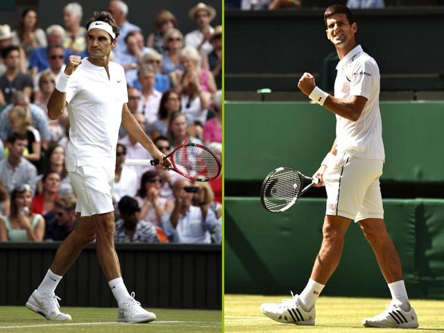 Roger Federer and Novak Djokovic will look to win their respective second-round matches at Wimbledon on Wednesday without too much trouble.(Agencies)