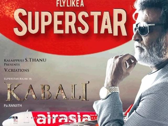 AirAsia has rebranded its aircraft in Kabali livery.