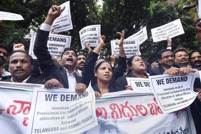 Telangana,Telangana judges protest,Andhra Pradesh