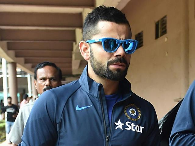 Indian cricket team captain Virat Kohli leaves the National Cricket Academy (NCA) where the team is taking part in a preparatory camp before their West Indies tour, in Bangalore.