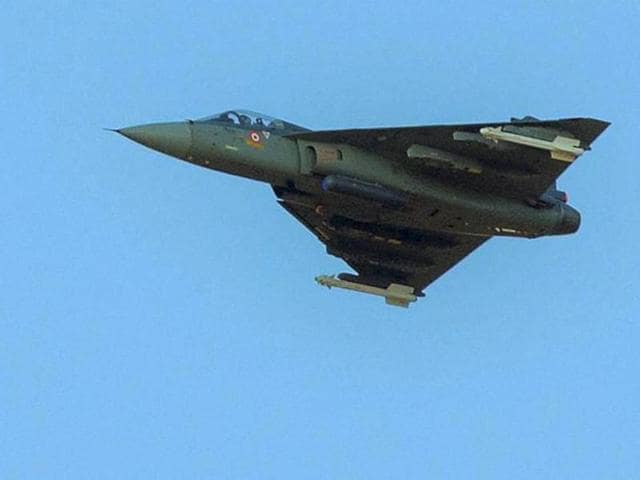 Indian Air Force's Tejas in action during 'Exercise Iron Fist' in the desert of Pokhran.(PTI file)