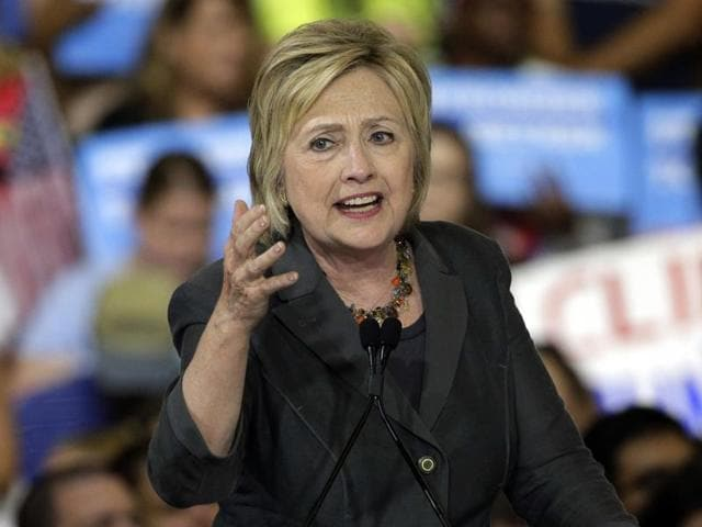 File photo of former secretary of state Hillary Clinton responding forcefully to intense questioning on the attacks on US diplomatic sites in Benghazi during a Senate Foreign Relations Committee hearing in 2013.