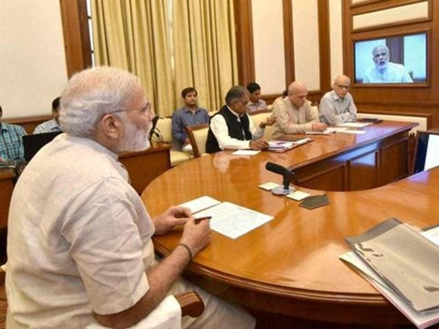 Prime Minister Narendra Modi will meet his cabinet ministers to take stock of the work done by various ministries in the two years.(PTI File Photo)