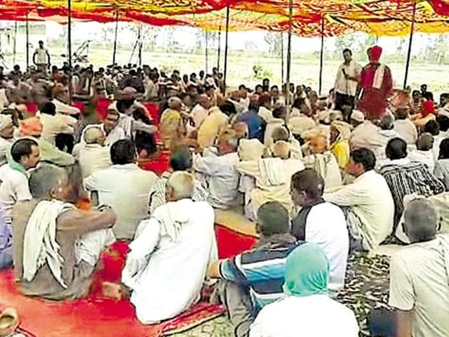 Jat community members during a recent agitation in Bharatpur.