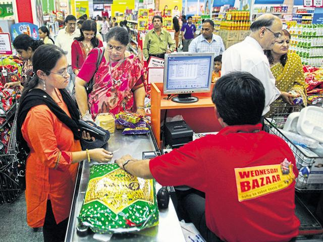 Experts say people might upgrade their consumer durables post an increase in disposable income, which will impact both urban and rural sales.(HT File Photo)