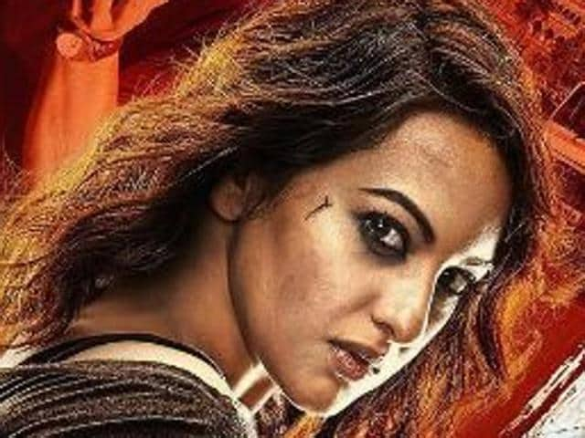 Sonakshi Sinha on the poster of Akira.