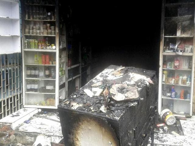 According to a fire brigade official, a cylinder kept in the medical store is suspected to have exploded causing the fire.