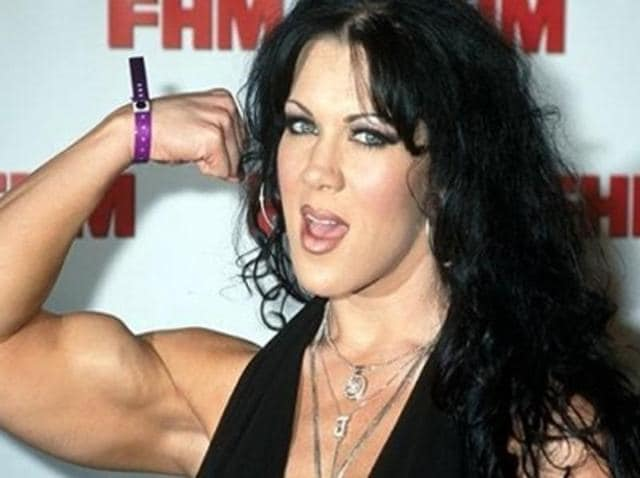 Afile photo of late WWEwrestler Chyna.