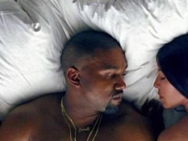 A controversial music video for his track Famous features Kanye and his wife Kim Kardashian West in bed. But that's not all: They are surrounded by a host of naked lookalikes, including singer Taylor Swift.