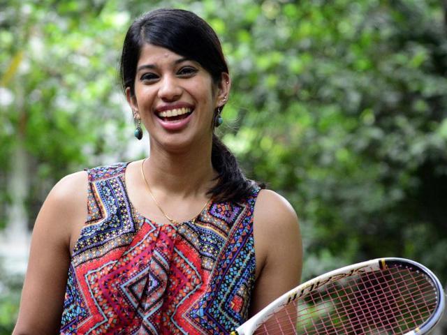 Afile photo of Indian squash player Joshna Chinappa.