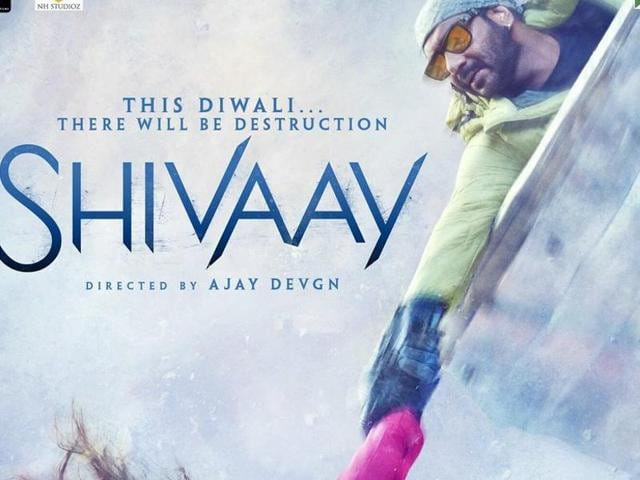 Ajay Devgn on a new poster of Shivaay.