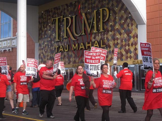 Union goes on strike against Trump Taj Mahal casino