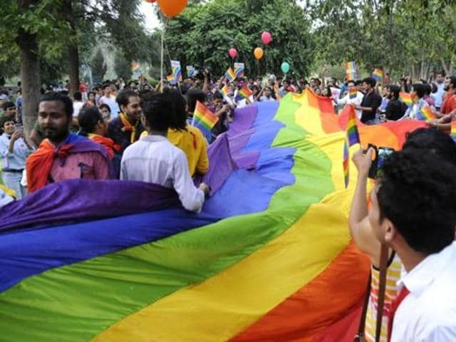 Members of the LGBT community inGurgaon took a candlelight march in protest against the Orlando shooting.
