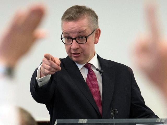 Michael Gove fields questions from his audience at the Policy Exchange in London, where he set out his case for becoming prime minister, Friday July 1, 2016.