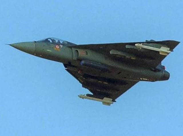 Indian Air Force's Tejas in action during 'Exercise Iron Fist' in the desert of Pokhran.