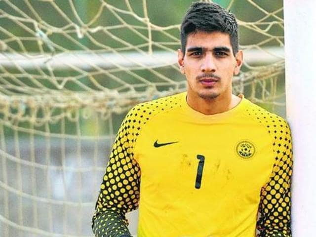 India goalkeeper Gurpreet Singh Sandhu started for his Norwegian club, Stabaek, in their Europa League Qualifying first round against Connah's Quay Nomads late on Thursday, becoming the first from the country to do so.