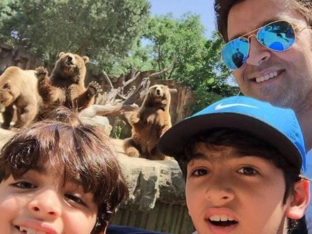 See photos of Hrithik Roshan's African adventure with sons Hrehaan, Hridhaan