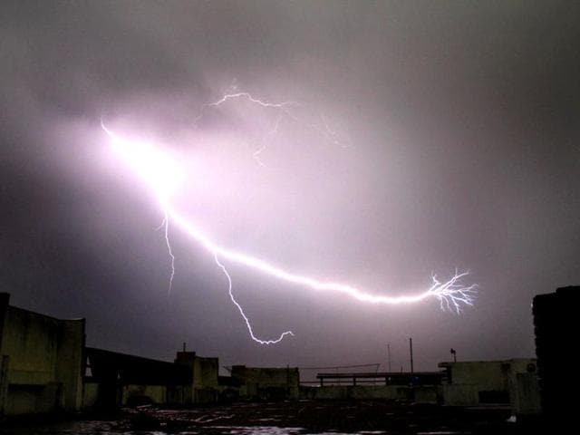 14 people were killed as lightning struck various parts of Madhya Pradesh on Friday.