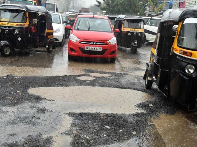 The western express highway has witnessed more than 70 potholes in the past few days.