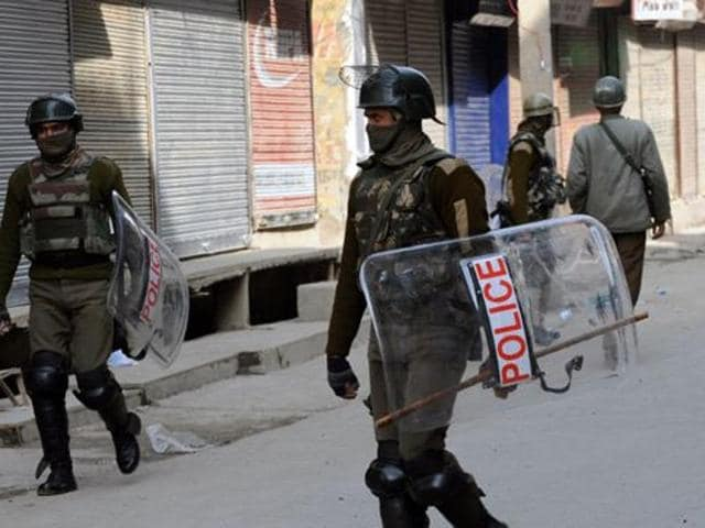 Three Central Reserve Police Force (CRPF) troopers were injured on Friday evening in Jammu and Kashmir's Pulwama district when guerrillas attacked their camp.