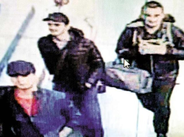 In this framegrab from CCTV video, made available by Turkish police on June 30, 2016, three men believed to be the attackers, walk in Istanbul's Ataturk airport on June 28, 2016.