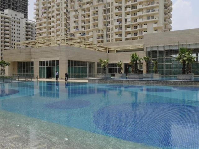 The boy got stuck in the pool at his residential highrise society on Wednesday evening and was admitted to Fortis Hospital later.