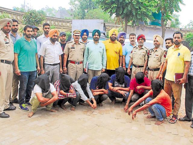 The accused in custody of Kapurthala police on Friday.