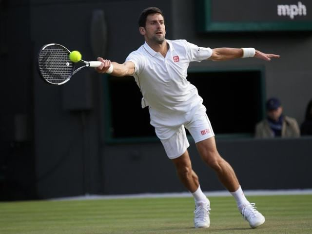 Serbia's Novak Djokovic in action.