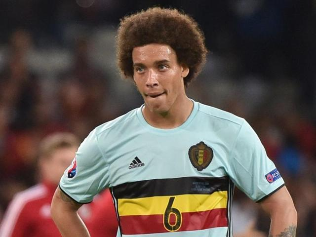 Belgium's midfielder Axel Witsel reacts at the end of the Euro 2016 quarter-final football match.