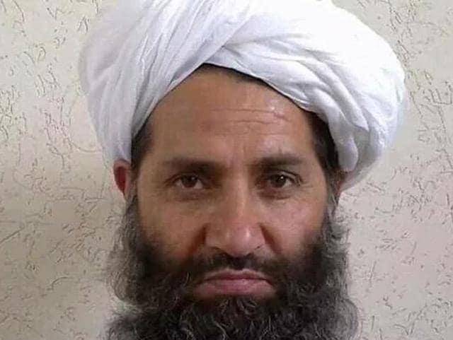 (FILES) This undated handout file photo released on May 25, 2016 shows, according to the Afghan Taliban, the new Taliban leader Mullah Haibatullah Akhundzada posing for a photograph at an undisclosed location.