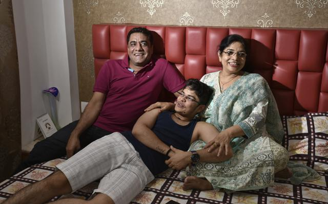 Kabir Gawlani, a transman in Indore, with his parents . Not all transgender people are lucky to have family support. Many face resistance and end up struggling to bear the expenses for gender affirmation surgeries.