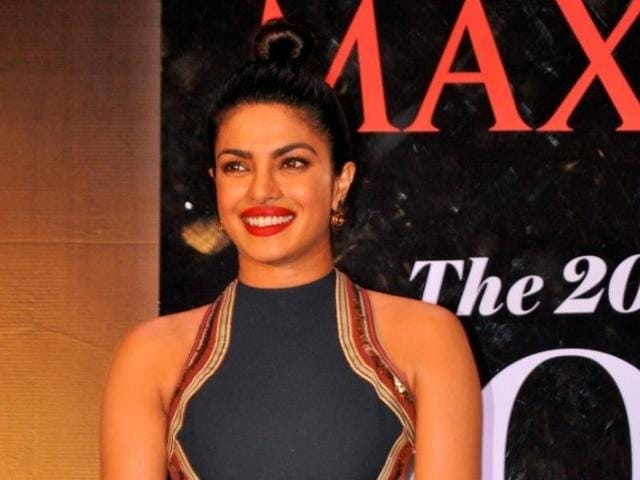 Priyanka Chopra during an event as she appeared on the latest cover of Maxim India magazine in Mumbai.
