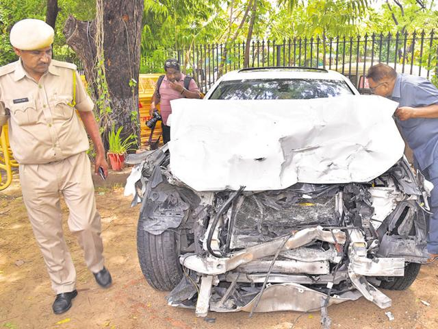 'The car was being driven at a speed of over 120 km/hr'