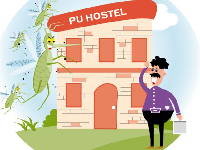 15 PU hostels fined for mosquito larvae in cooler water