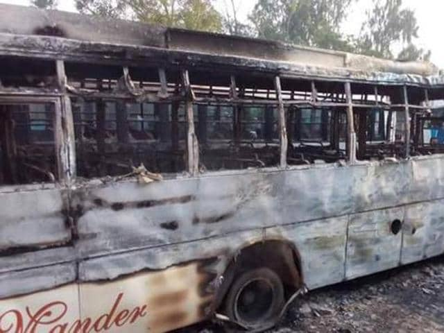 There was arson in Malerkotla on the night of June 24 after pages of the Quran were found dumped near a drain on Khanna road.