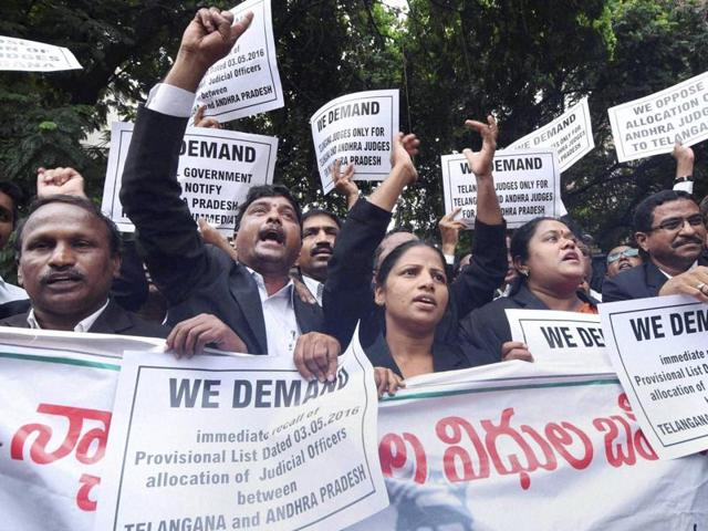 Hyderabad high court,Chief Justice of India,Telangana lawyers' protest