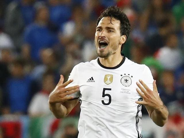 Bayern Munich player Hummels was booked late in regulation time of his side's 6-5 shoot-out victory over Italy, after their clash on Saturday finished locked at 1-1.