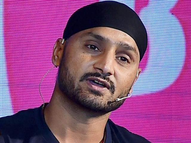 Cricketer Harbhajan Singh at an event in New Delhi.